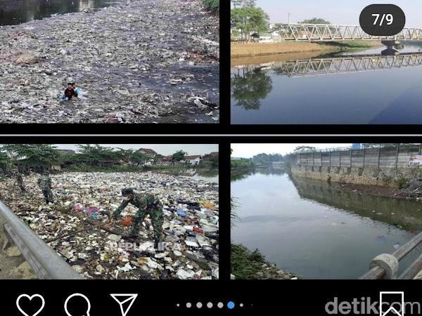 Ridwan Kamil Posting Before - After Citarum, Seperti Ini Kondisi di Lapangan