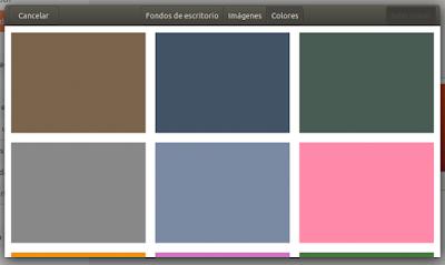 Opción Colores
