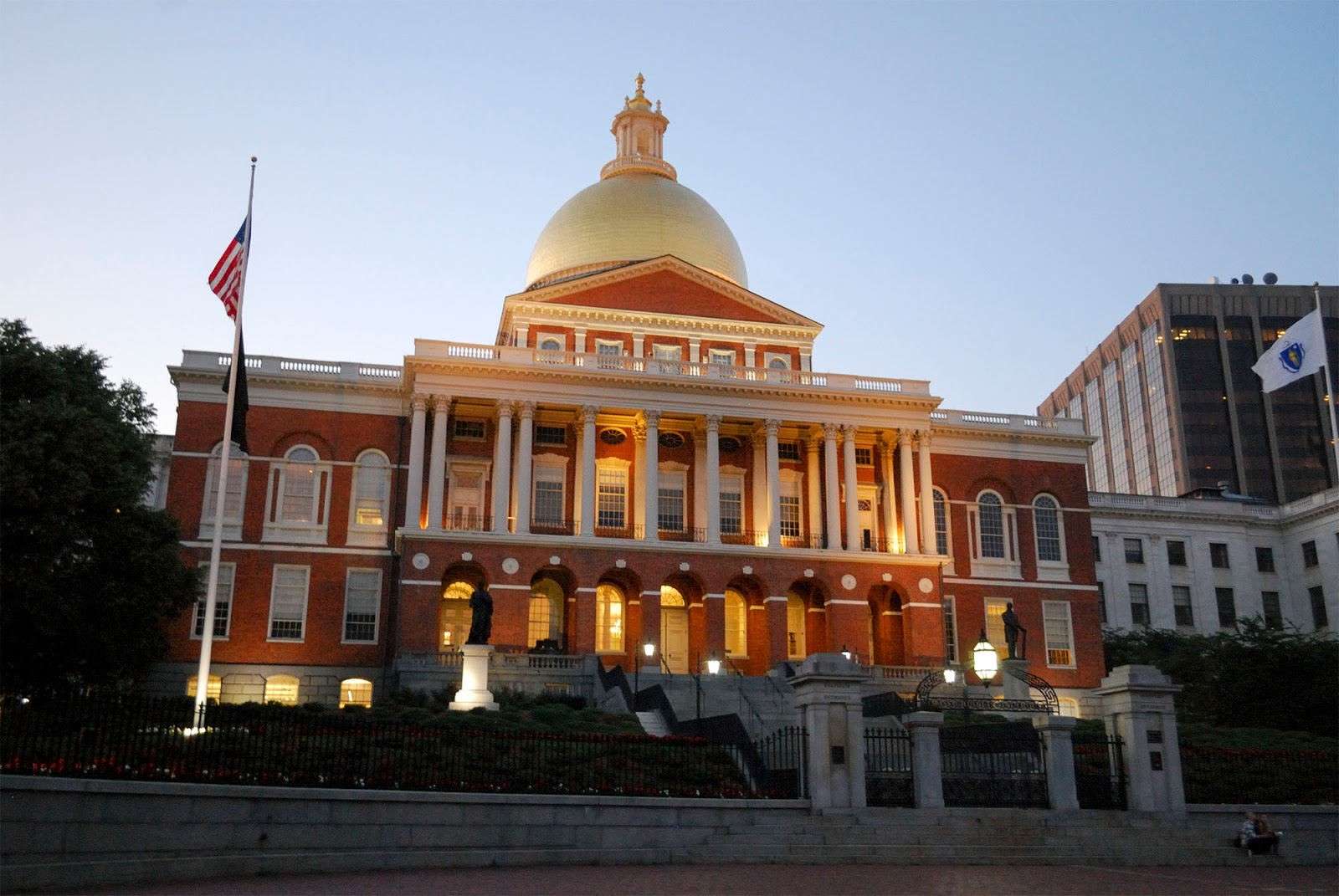 boston sunset state house freedom trail map itinerary plan guide tourism usa america park east coast
