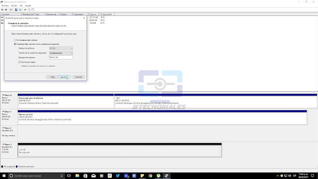 Formato FAT32 a la memoria USB con el Administrador de discos de Windows 10