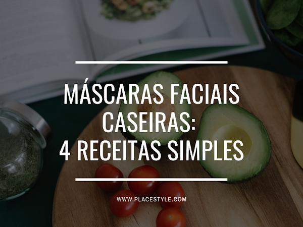 Máscaras faciais caseiras: 4 Receitas simples