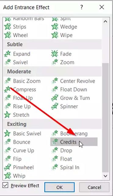 Cara Membuat Rolling Credit Dalam Presentasi PowerPoint