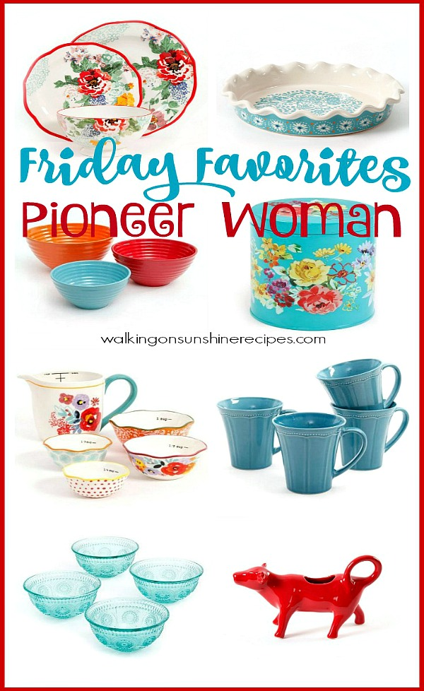 Pioneer Woman Housewares Essentials - Friday Favorites from Walking on Sunshine Recipes.