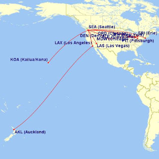 travel itinerary map