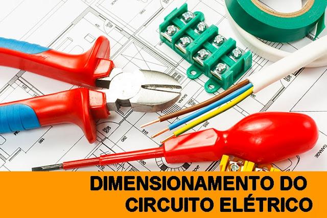 Dimensionamento do circuito elétrico