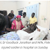 Goodluck Jonathan and His Wife Visits Umar Muttaka In The Hospital
