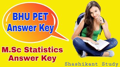 BHU-M.Sc-Statistics-Answer-Key