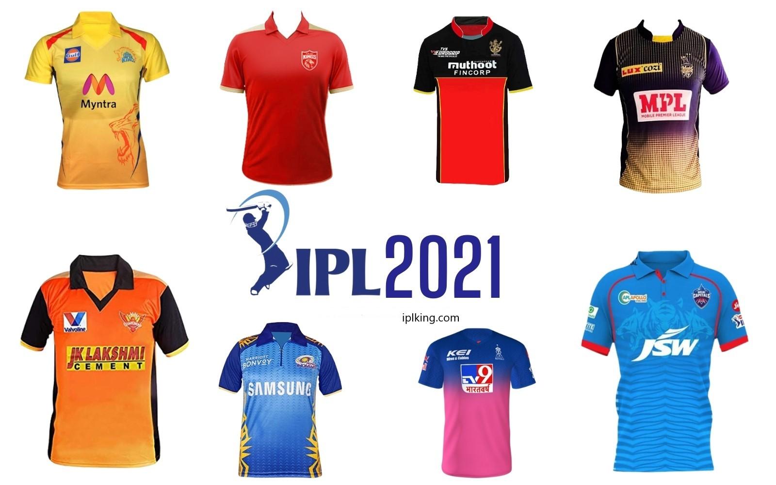IPL All Team New Jersey 2021