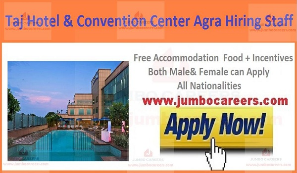Agra hotel job vacancies, Jobs with accommodation in Agra,