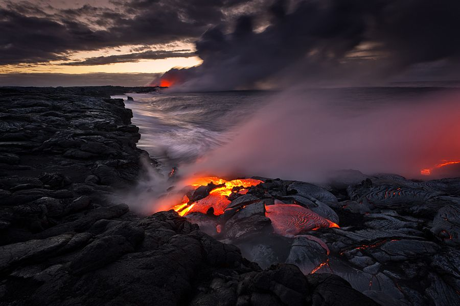 Lava Cove at Dawn