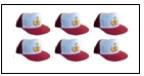 soal jumlah topi