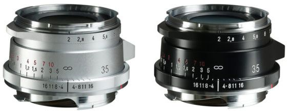 Ultron Vintage Line 35mm f/2 Aspherical Type II VM, серебристого и черного цветов