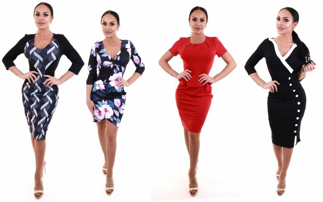 Rochii elegante de zi / office modele noi preturi mici la moda 2019