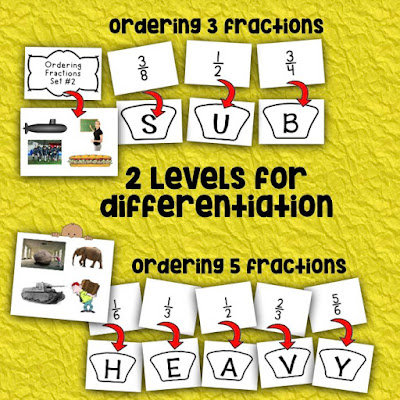 https://www.teacherspayteachers.com/Product/Ordering-Fractions-Whats-the-Word-Style-CCSS-Math-4NFA1-3047859