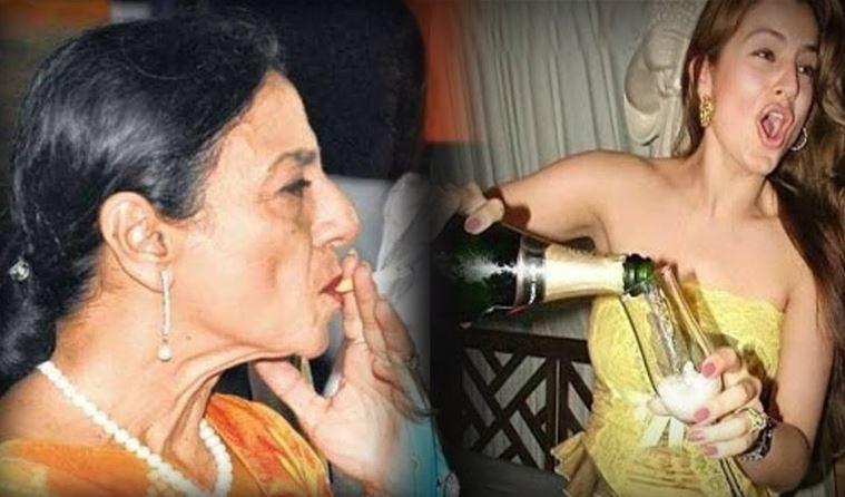 alcoholic actress