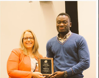 Nigerian Student, Ojo Bagged Most Outstanding Phd Student Award In USA (Photo)