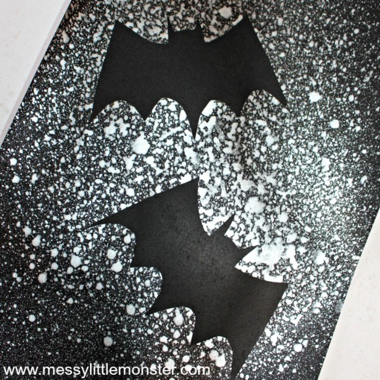 bat silhouette craft