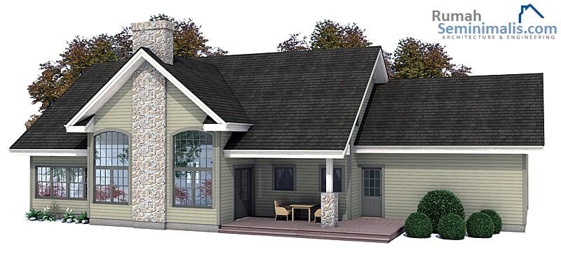 Denah Model Desain Gambar Rumah Minimalis Idaman Sederhana Tipe 145