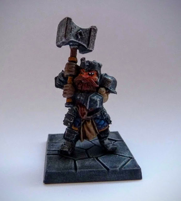 Dungeon Saga: Dwarf Kings Quest painted hero: Rordin.