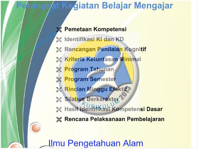RPP Kurikulum 2013 SMP IPA Kelas 7 8 9 Revisi Terbaru