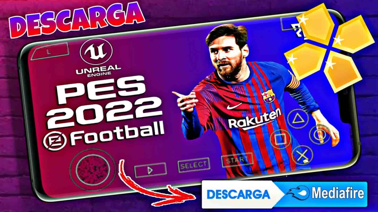 ᐉ EFOOTBALL PES 2022: Descargar ISO Con Cámara PS5 Para Android PPSSPP
