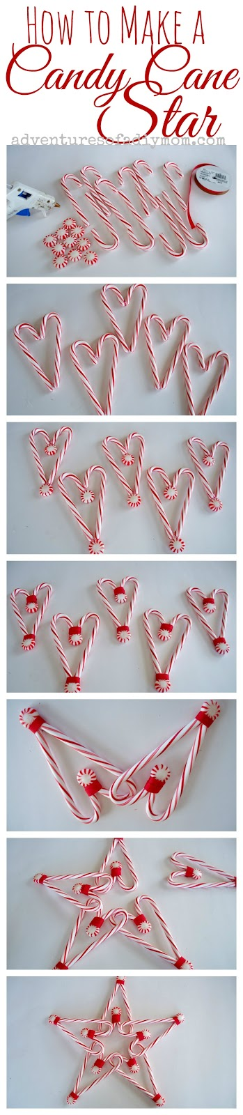 How to Make a Candy Cane Star - step-by-step