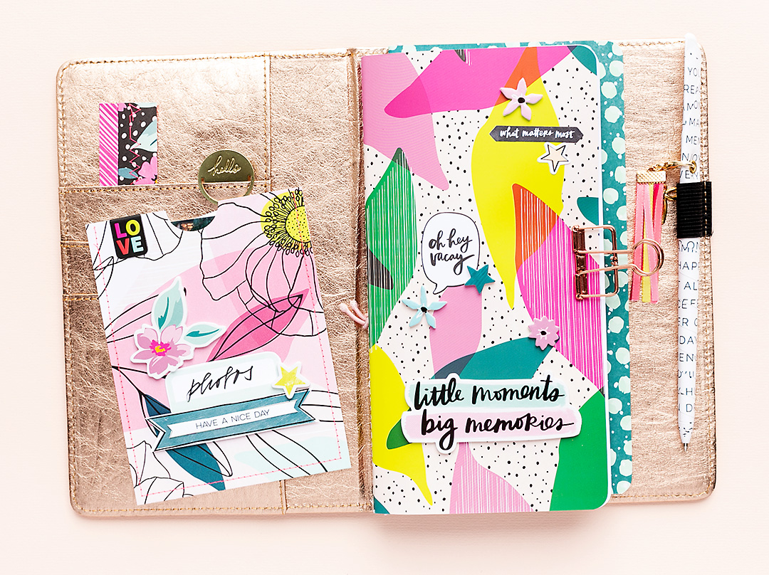 Journal Spread featuring Sustainable Journaling by American Crafts and Brave & Bold by Amy Tangerine
