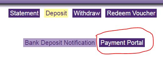 Click on Payment Portal - Hollywoodbets - Deposit using iPAY
