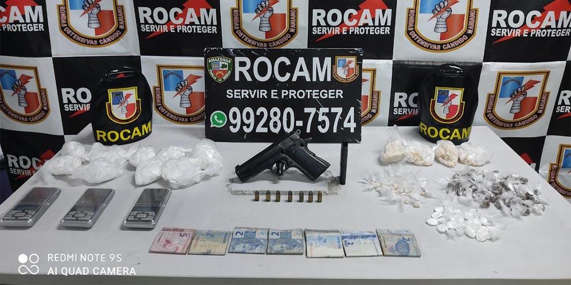Rocam detém homem por tráfico de drogas no Centro da cidade