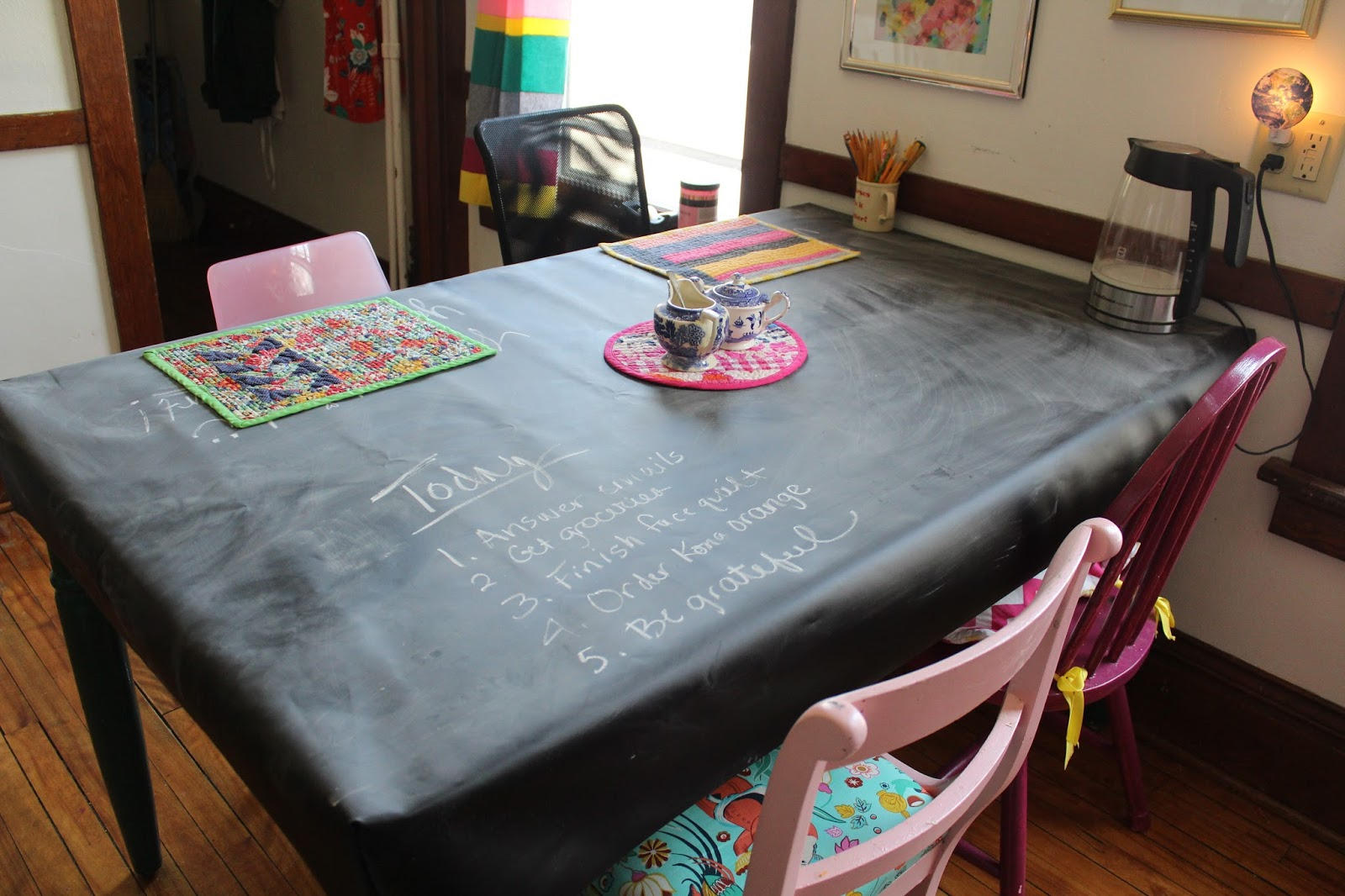 sewhungryhippie: DIY Chalk cloth table cover