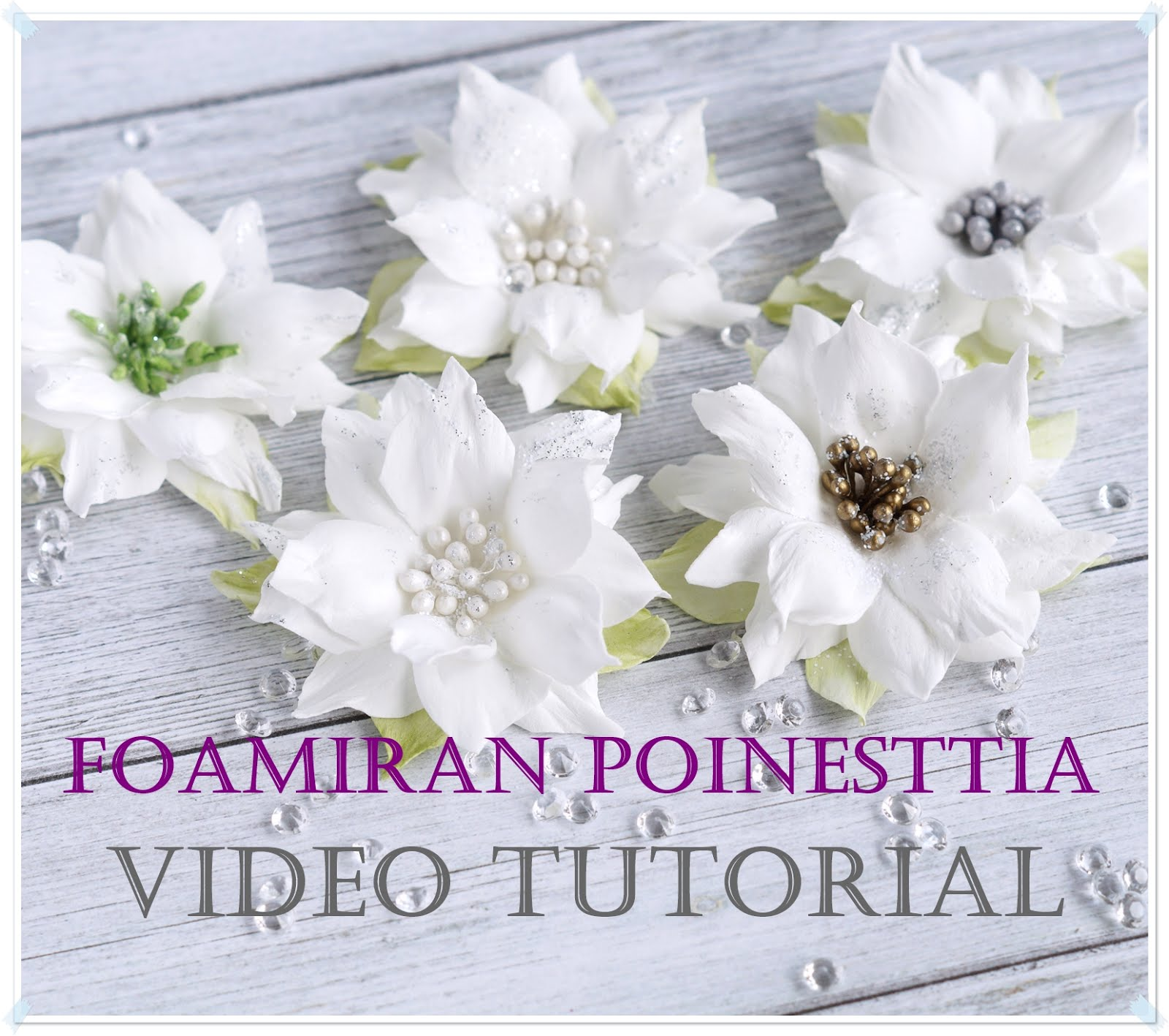 Foamiran Poinsettia Tutorial