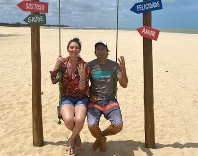 Glenda Kozlowski entrevista Kauli Seadi, tricampeão mundial de windsurf, no Rio Grande do Norte. Crédito: @kauliseadi_253/Instagram