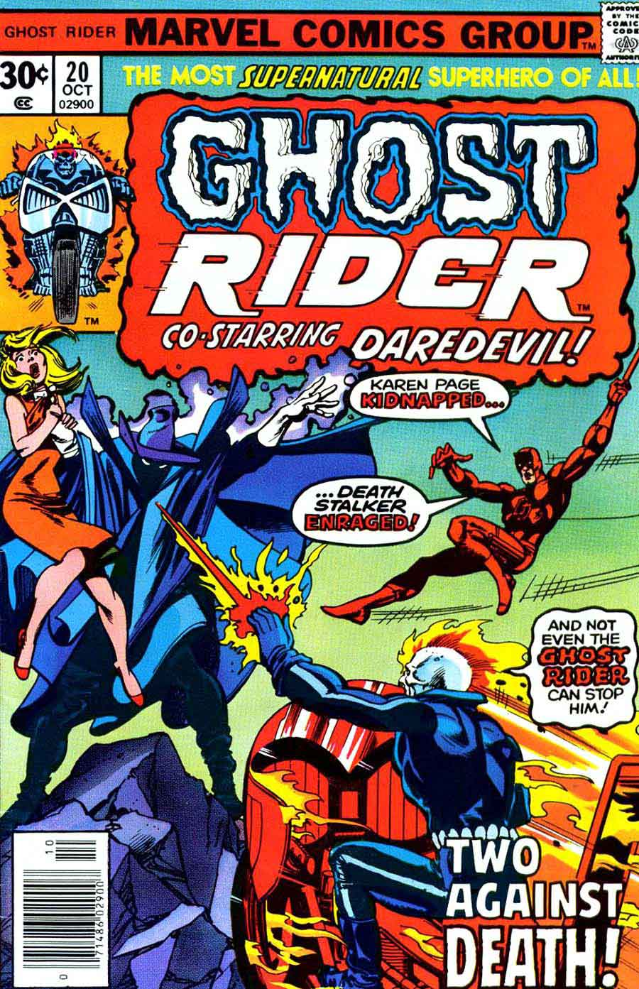 Ghost Rider v3 #20 marvel comic book cover art by Gil Kane