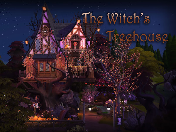 Sims 4 The Witch's Treehouse 巫婆的樹屋 [NO CC]