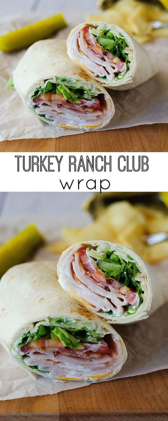 Turkey Ranch Club Wraps #recipes #lunchrecipes #food #foodporn #healthy #yummy #instafood #foodie #delicious #dinner #breakfast #dessert #lunch #vegan #cake #eatclean #homemade #diet #healthyfood #cleaneating #foodstagram