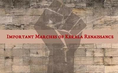 Important Marches of Kerala Renaissance