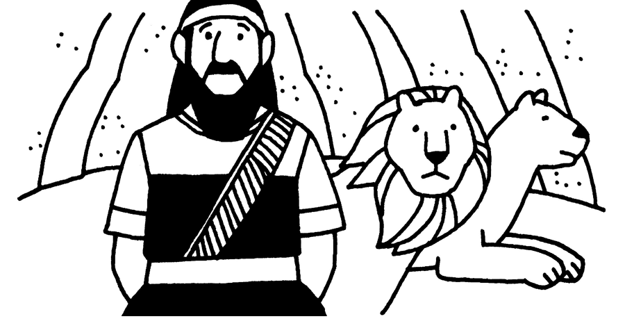 Daniel and the lions den coloring page | Bible - Coloring pages ... | 472x900