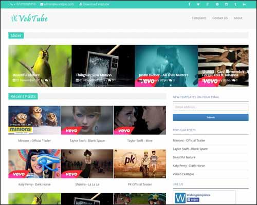 Mẫu Template Blogger dành cho web videos miễn phí