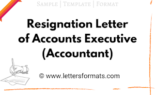 resignation letter format for accounts executive