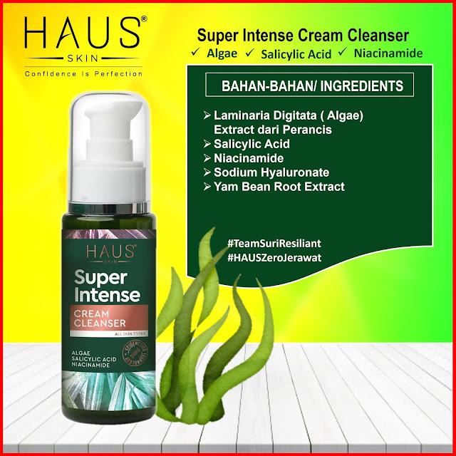 Kandungan Super Intense Cream Cleanser