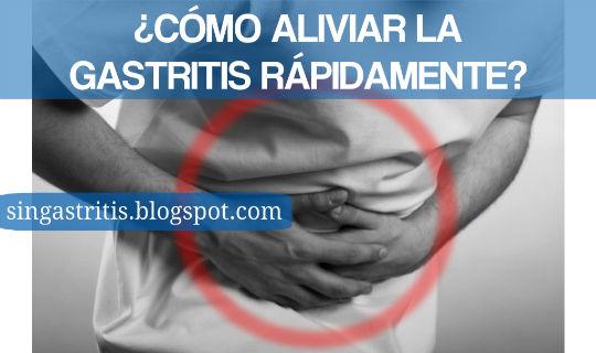 Como Aliviar la Gastritis de forma rapida