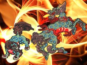 麒麟vs獅子(素材使用)