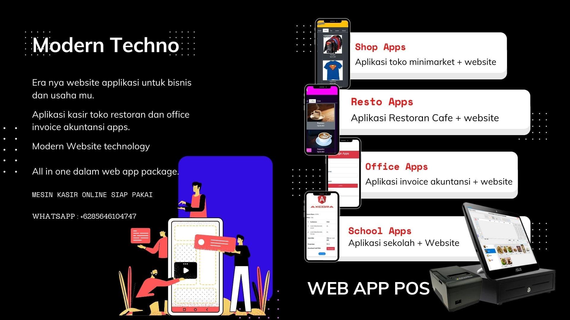 mesin kasir dan aplikasi online terbaru