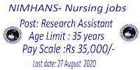 Nursing jobs in NIMHANS 35,000 Salary