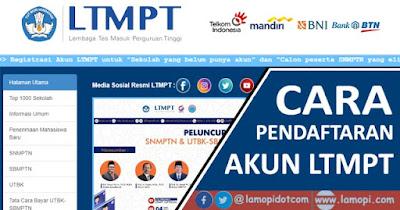 Cara Pendaftaran Akun LTMPT