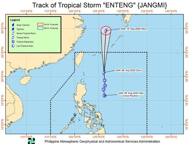 'Bagyong Enteng' PAGASA weather update August 9, 2020