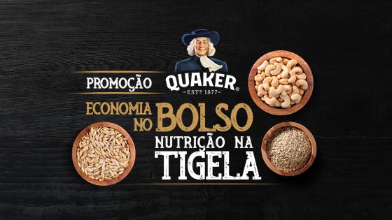 Promoção Quaker Economia no Bolso Nutrição na Tigela