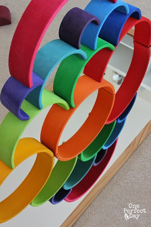 Five different ways to play with Grimm's Wooden Rainbow | you clever monkey