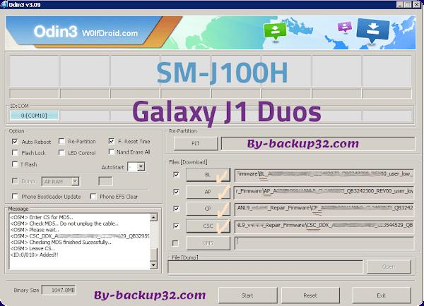 سوفت وير هاتف Galaxy J1 Duos موديل SM-J100H روم الاصلاح 4 ملفات تحميل مباشر