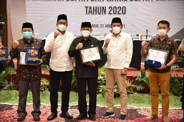 KPU Sidoarjo Gelar RPT Penetapan Paslon Bupati Dan Wakil Bupati Terpilih 2020